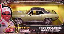 1971 Plymouth Cuda Lt Green John Force 1:18 Ertl American Muscle 32895