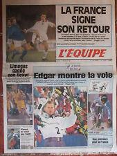 L'Equipe du 17/2/1994 - J.O Lillehammer : Grospiron - Limoges - Italie-France