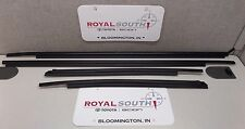 Toyota Tundra Double Cab Door Belt Moulding 4pc Set Weatherstrip Genuine OEM OE