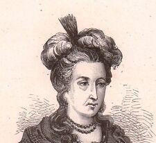 Portrait XIXe Marie-Françoise Marchand  Mademoiselle Dumesnil Actrice Théâtre