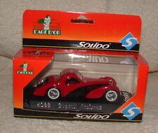 Solido L' Age D'or 4088 Bugatti Atalante New In Box 1/43 Scale Red Black Nice