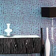 Matrix Allover Stencil - Trendy Modern Wall Design - DIY Wallpaper Alternative