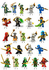 Ninjago stand up cake toppers edible wafer card loyd kai jay zame 23 PIECES