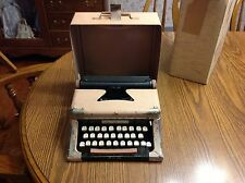 Vintage Tom Thumb Deluxe Toy Typewriter Toy Child's with case & Orig. Box