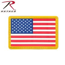 PVC US Flag With Gold Border Hook Back Military Morale Patch