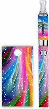 Battery Decal Wrap For: Evod 1100mAh MT3 Vinyl Mod Skin + Free Tank Wrap RAINBOW