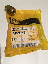 CAT Caterpillar Marine Anode Brass Plug Genuine Part Part Number 5B-9169