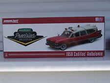 CADILLAC 1959 AMBULANCE, 1:18, GREENLIGHT PRECISION COLLECTION. 35 cm de long