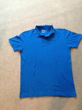 Bright Blue Primark T,Shirt with Coller And Buttons New Without Tags
