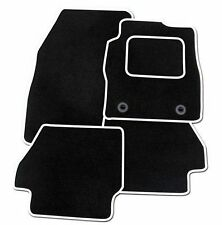 Toyota Prius 2012 Onwards TAILORED CAR FLOOR MATS BLACK WITH WHITE TRIM