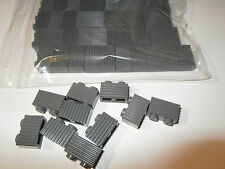 50 x LEGO Pack of 1 X 2 Dark Grey brick with grove / grooves