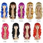 LADIES WOMEN'S SEXY LONG CURLY FANCY DRESS WIGS COSPLAY COSTUME FULL WIG PARTY
