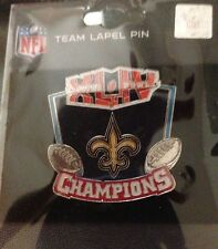 NEW ORLEANS SAINTS SUPER BOWL XLIV 44 CHAMPIONS PIN DREW BREES SEAN PAYTON RARE