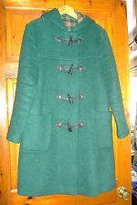 Green duffle coat. With tartan pattern inside. Ladies size 12.