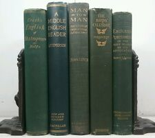 1869-1924~Antique Green 5 Book Lot~Old Decorative Set~THE BIRDS CALENDAR