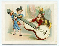 Appel litho trade card - large guitar