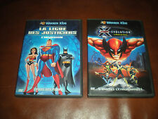 LOT 2 DVD WARNER KIDS : LA LIGUE DES JUSTICIERS + X-MEN EVOLUTION