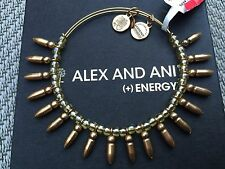 NWT ALEX and ANI HONEY SPIKE of CONFIDENCE Beaded BANGLE Russian GOLD BRACELET