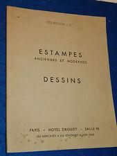 1969 ESTAMPES anciennes et modernes DESSINS paris HOTEL DROUOT boucher NANTEUIL