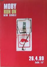 """ALBUM POSTER~Moby Run On 1999 From Play 30x30"""" Original UK Import NOS Band Promo"""