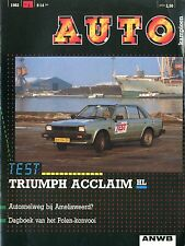 1982 AUTOKAMPIOEN MAGAZIN 1 TEST TRIUMPH ACCLAIM HL FIAT RITMO ABARTH 125 TC