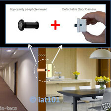 Black 190° SPY PeepHole Viewer 800TVL Video Door Camera for Home Safety NTSC PAL