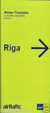 Airline Timetable - Air Baltic - 31/10/04 - Edition 2 (Latvia)