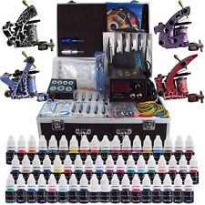 Complete Tattoo Kits 4 Pro Machine Guns 54 Inks Power Supply Needle Grips TK456