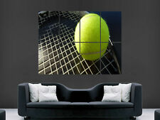TENNIS BALL AND RACKET SPORT  ART WALL LARGE IMAGE GIANT POSTER !!