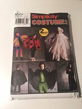 Simplicity Costume Pattern Kid Ghost Grim Reaper Spider Ladybug Butterfly Bandit