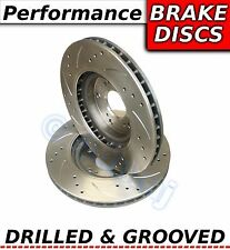 IMPREZA 2.5 TURBO WRX STI 330S Drilled & Grooved Sport FRONT Brake Discs Rotors