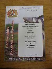 15/03/2011 Bedfordshire Senior Trophy Final: AFC Dunstable v Totternhoe [At Leig