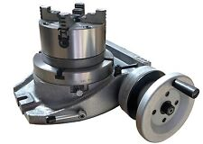 "The adapter and 4 jaw chuck for mouting on a 8"" rotary table"
