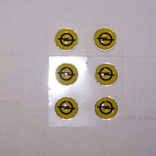 KIT DE 2 Adhesivos Armas 3D Delgado Ø12mm Opel ADAM MOKKA CORSA Zafira Astra