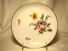 Dresden Porcelain Hand Painted Fine China Floral Shallow Bowl