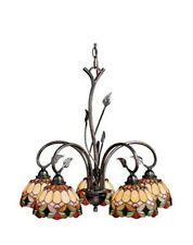 Oil Shale Tiffany Stained Glass Elegant 5 Light Chandelier