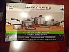 Mainstays Classic Nonstick 8-Piece Pots And Pans Cookware Set Sets #1174