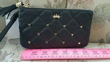 Juicy Couture - BLACK  - HEART STUDDED - WRISTLET - PLEATED - Double ZIPPER- NWT