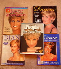 PRINCESS DIANA 1997 COMMEMORATIVE - PEOPLES WEEKLY BOOK + FOUR MAGAZINES ROYALTY