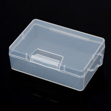 Clear Plastic Storage Jewelry Box Business Card Container Holder Case Organizer
