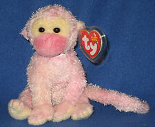 TY POET the VALENTINES MONKEY BEANIE BABY - MINT with MINT TAG