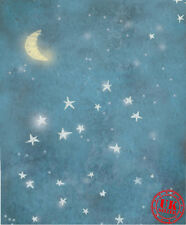 BLUE STAR DREAM NIGHT BABY BACKDROP BACKGROUND VINYL PHOTO PROP 5X7FT 150X220CM