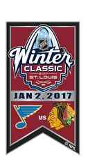2017 NHL WINTER CLASSIC BANNER PIN CHICAGO BLACKHAWKS VS ST. LOUIS BLUES