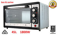 BOS & SARINO 45L Convection Rotisserie Electric Bench Top Oven Grill 1800W Wrnty