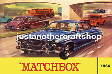 Matchbox Toys 1964 Jaguar Catalogue Cover Large Poster Advert Sign Leaflet