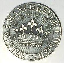 C942     MANCHESTER,  N.H.  STERLING # 303  TOWN  MEDAL,  WINTER CARNIVAL  1971