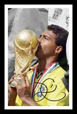 ROMARIO - BRAZIL AUTOGRAPHED SIGNED & FRAMED PP POSTER PHOTO