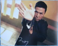 DONNIE YEN SIGNED11x14 INCH PHOTO DC/COA (IP MAN) PROOF a