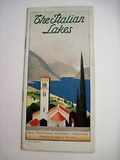 "Vintage ""The Italian Lakes"" Travel Brochure Written in English"