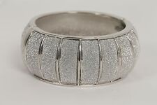 Silver Glitter Rounded Chunky Bangle